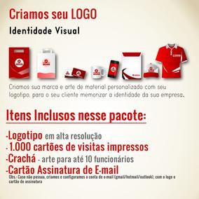 Logotipo + Cartões De Visitas + Crachás + Cartão Ass. E-mail