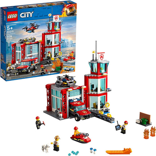 Lego City Fire Station 60215 Juego De Const De Torre 509 Pza