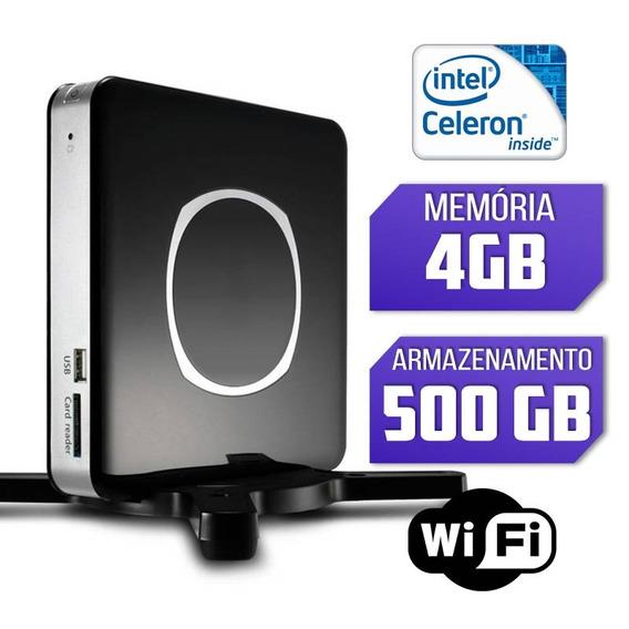 Nano Pc Intel Quad Core, 4gb, Hd 500gb, Windows 7 Com Wifi