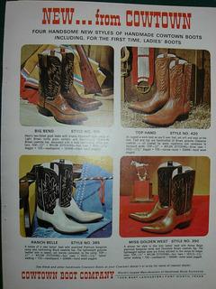 Cowboys Clipping Publicidad Western Botas Texanas Cowtown