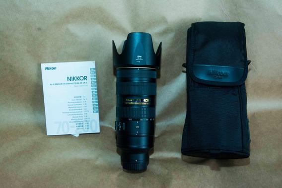 Lente Nikon 70-200mm 1:2.8 Gii Ed N - Seminova Vr2