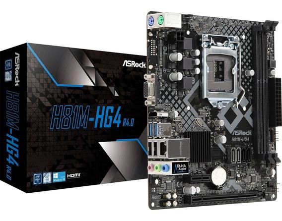Kit Placa Mãe Asrock H81m-hg4 + Proc Pentium G3250 Dual Core