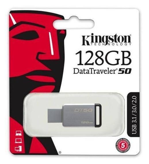 Pen Drive 128gb Kingston Dt50 Usb 3.1 Original Blister