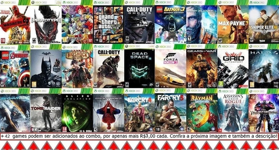 Jogos Xbox 360 Combo 27 Jogos Mídia Digital