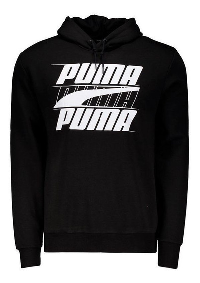 Moletom Puma Rebel Logo Preto