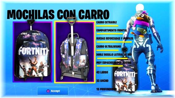 Mochila Con Carro Fortnite, Ahora Con Envio Gratis!!!