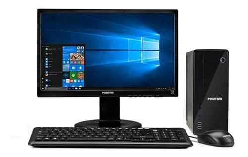 Imagem 1 de 8 de Cpu + Monitor 22 Pol Positivo Dual Core 4gb 120gb Ssd - Novo