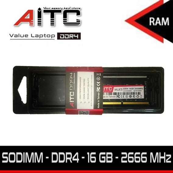 Memoria Ram Laptop Aitc - Ddr4 16gb 2666 Mhz - Línea Value