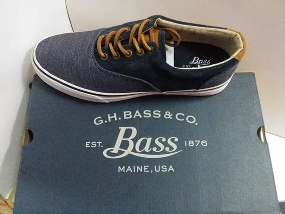 Tenis G.h.bass Color Azul,cafe Testil Para Caballero