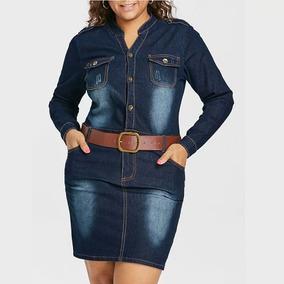Vestido Jeans Plus Size Importado