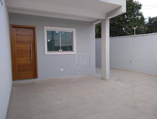 Imagem 1 de 21 de Sobrado Com 3 Dormitórios À Venda, 68 M² Por R$ 450.000 - Parque Jaçatuba - Santo André/sp - So3057