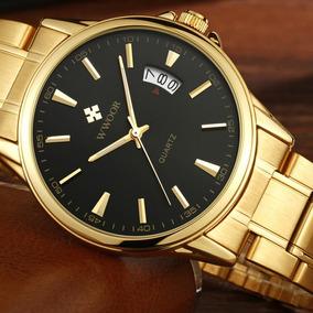 Relogio De Luxo Wwoor 8833 Original Dourado Em Promoção
