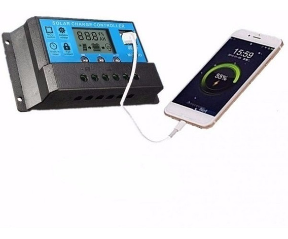 Controlador Carga Painel Solar 20a 12v 24v Promoçao