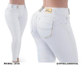 Calça Cigarrete Jeans Clara Pitbull Com Enchimento Reta