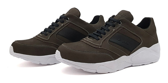 Tênis Casual Masculino Couro Avalon Stefen Chunky Cores