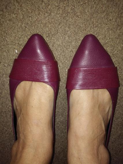 Zapatos Lazaro Chatitas Color Guinda Numero 39