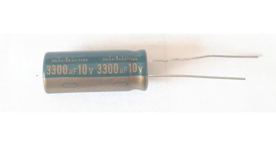 Condensador 3300uf 10v 3300mf 105ºc Nichicon Bajo Esr