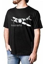 Camiseta Avião Fairey Battle Preta Tam M Aero T-shirt