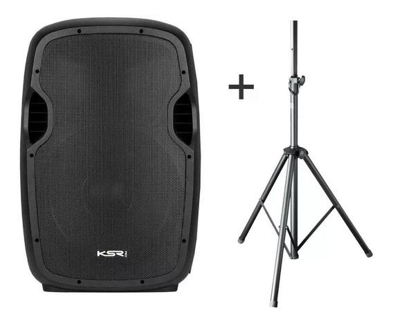 Caixa Ativa 15 Ksr Pro K815 Bluetooth Usb + Tripe / Loja