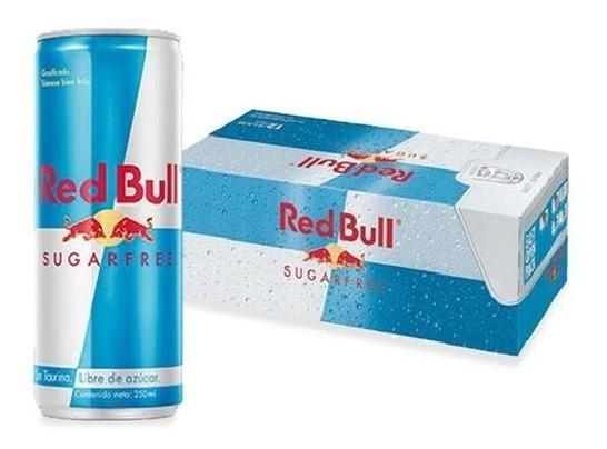 Red Bull Sugar Free Bebida Energetica 12 Pack