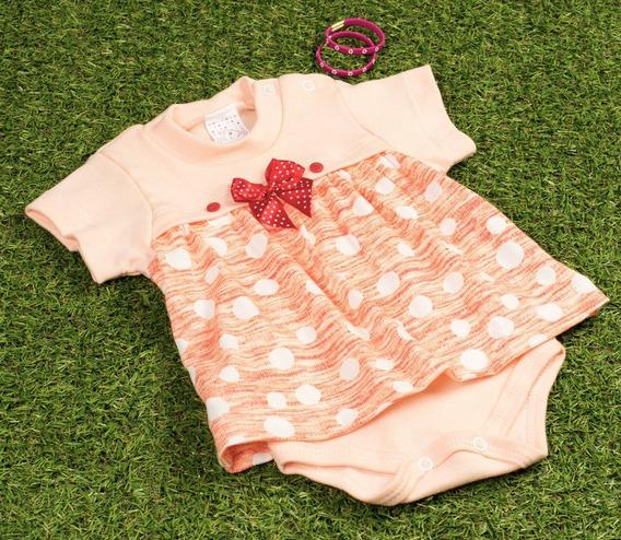 Body Vestidinho Para Bebê Menina Laranja