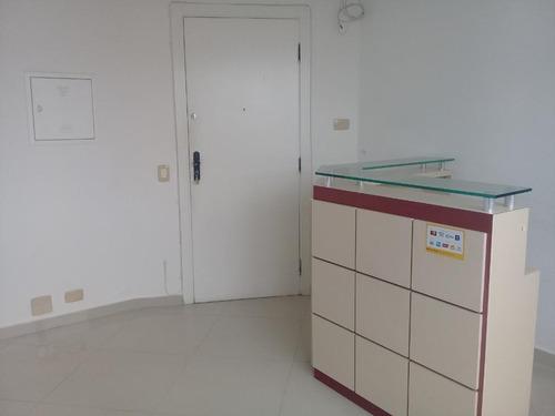 Conjunto Comercial Para Alugar, 38 M² Por R$ 2.400/mês - Gonzaga - Santos/sp - Cj0091