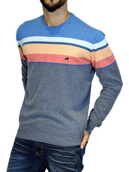 Sweater Pullover Rayado Algodón 14688n-5 Hombre Mistral