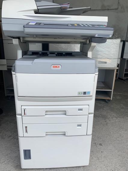 Impressora Multifuncional Color A3 Oki Mc860 Com Defeito Na Impressão Completa Com Toner Usado E Fotocondutor Novo