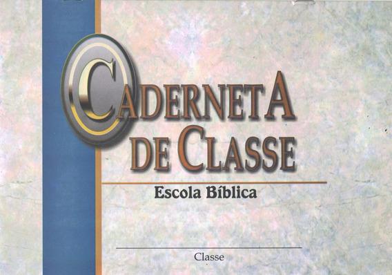 Kit C/ 10 Cadernetas De Classe Escola Bíblica Dominical Ebd