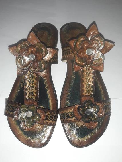 Sandalias Artesanales Hechas En Cuero Para Damas Y Niñas