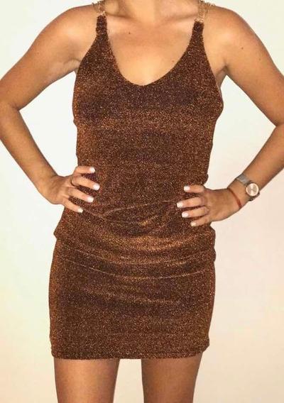 Vestido De Lurex Nuevo! Talle S/m. Ideales Para Las Fiestas!