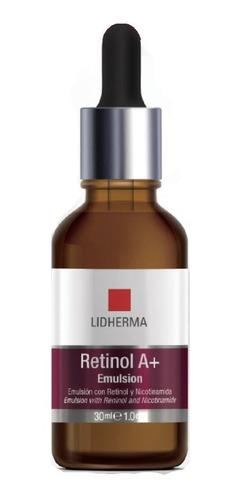 Imagen 1 de 10 de Retinol A+ Emulsion Nicotinamida 30gr Renovador Lidherma