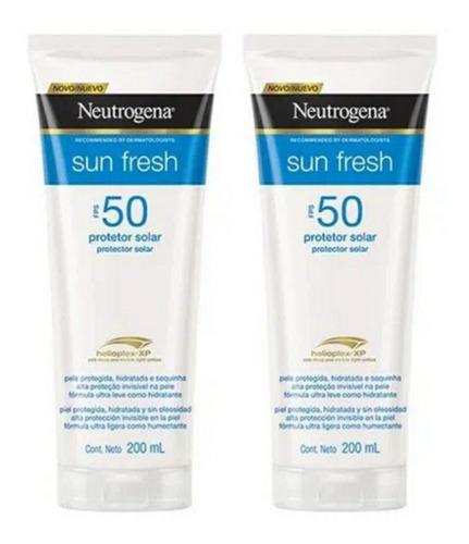 Kit Protetor Solar Neutrogena Sun Fresh Fps50 200 Ml Cada
