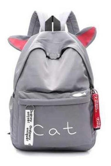 Mochila Oxford Gato Cat Super Cute Novidade City Rock