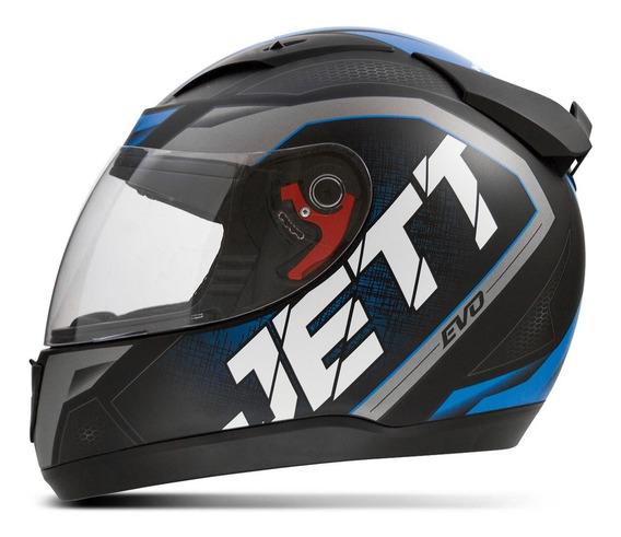 Capacete Moto Jett Evo Line Pro Tork Fosco