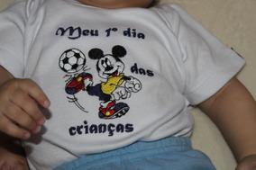 Body Para Bebê Ou Camiseta Bordado , Qualidade !!