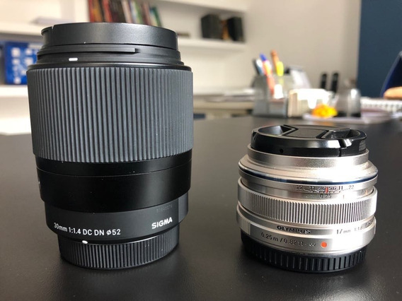 Lentes Micro Sigma 30mm F/1.4 E Olympus 17mm F/1.8