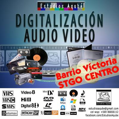 Traspaso Vhs Hi8 Betamax Minidv 8mm Pal A Cd Dvd Pendrive