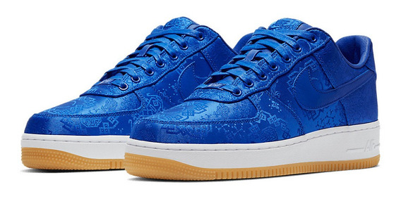 Tenis Nike Air Force 1 X Clot Azul Royal 41 Ds Fog Off-white