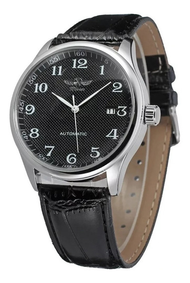Relógio Winner Automático Luxo Mostrador Preto