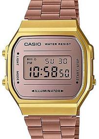 Relógio Casio Vintage Feminino Rose / Dourad A168wecm-5df-br