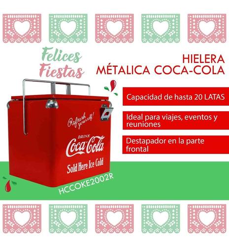 Imagen 1 de 8 de Hielera Metálica Coca-cola Dace Hccoke2002r