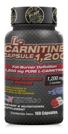 Carnitina Cápsulas L-carnitina Pura 100 Caps De 600 Mg F&nt