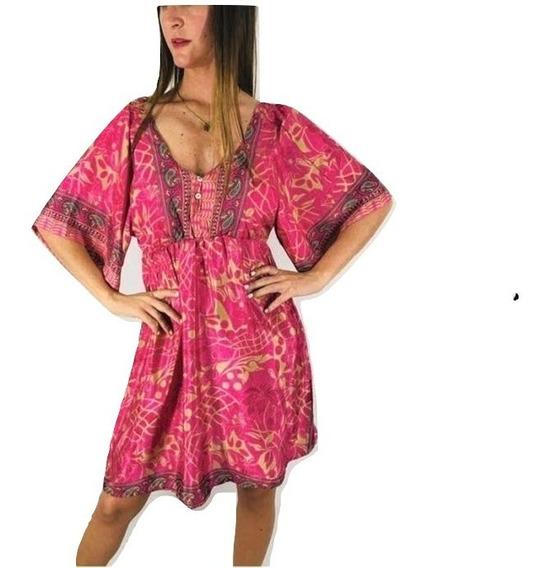 Vestido Importado India Fiesta Boho Tipo Rapsodia Holi