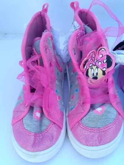 Botines Zapato De Niña Minnie Maose Eu 27.5 Original Disney