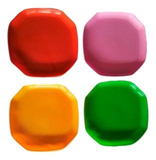 Plato Plástico Octagonal C/surtidos, Platos Plasticos