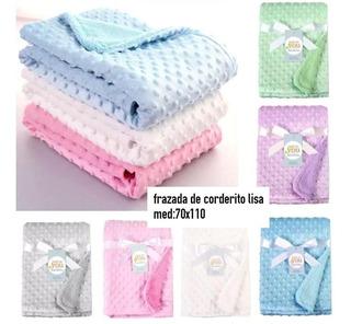 Frazada Manta Lisa Corderito Cuna Bebe Infantil 70x110cm