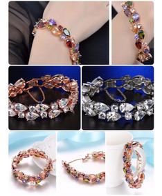 Pulseira Bracelete De Zirconia Colorida