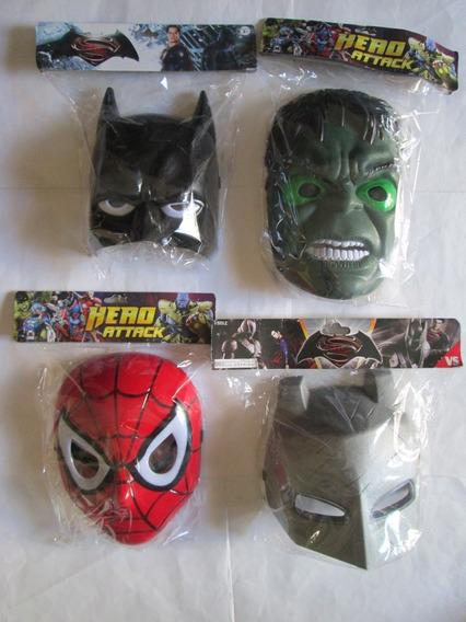 Mascaras Hulk-c.america-minions-h.araña-batman-iron Manc/luz