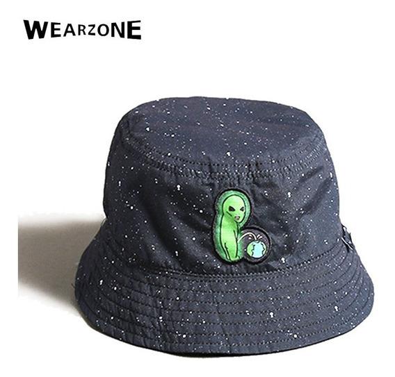 Boné Chapéu Bucket Preto Dupla Face Alien Et Alienígena Ufo